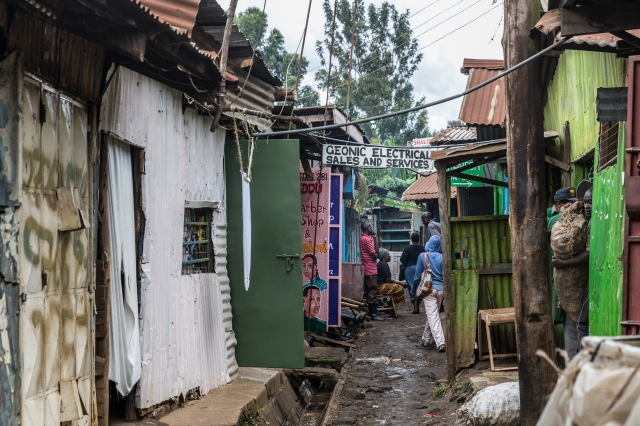 Kibera alley way